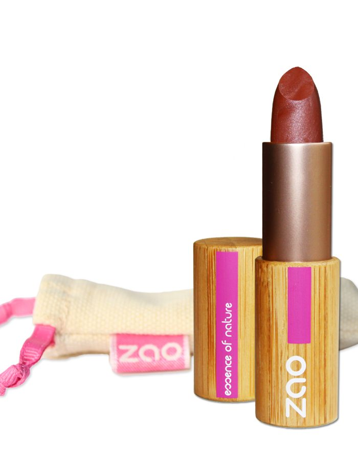 ROuge à lèvres brun rouge nacré 404