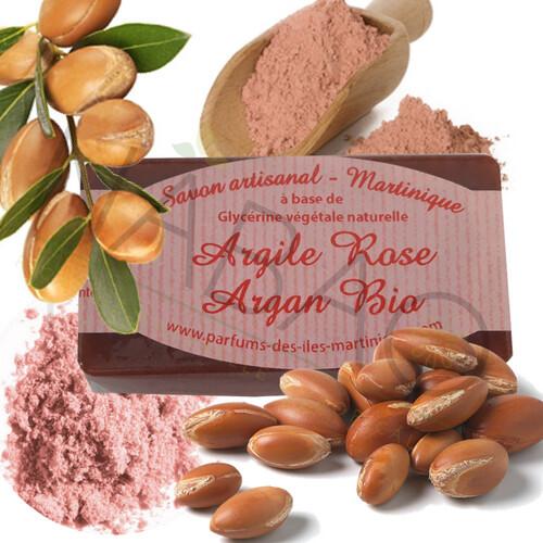 Savon argile rose et l'huile d'argan bio www.nabao.fr
