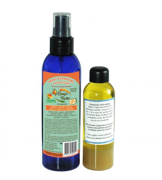 kit  complet spray mélange + flacon spray 200ML Mango Butter