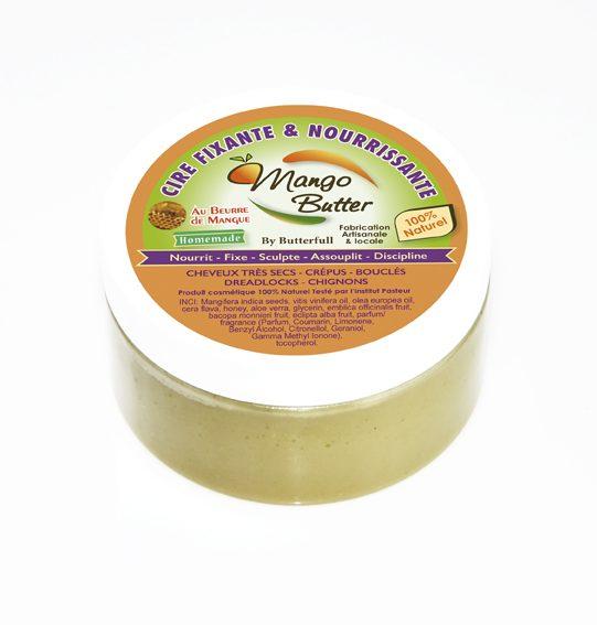 Cire fixante et nourrissante beurre de mangue 100 ml - Mango butter
