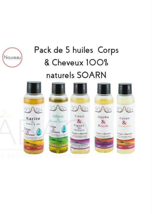pack 5 huiles SOARN