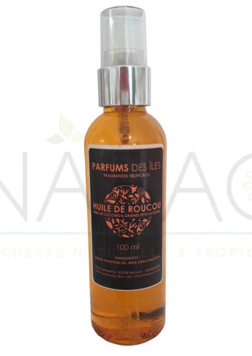 Huile de roucou avec graines Parfums des Iles 100 ml www.nabao.fr