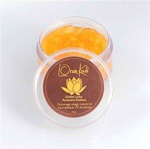 "Mini Gommage ayurvédique ""Golden Lotus Purement Radieux"" LorenKadi 10gr www.nabao.fr"