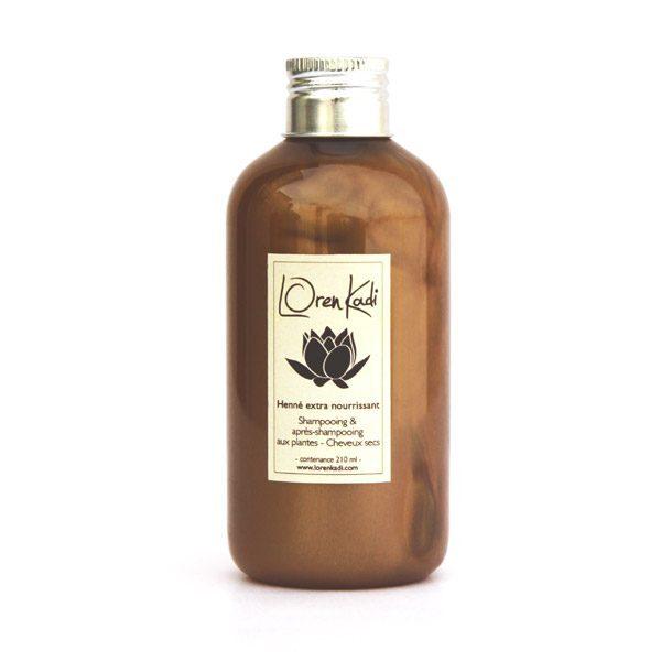 "Shampooing et Ap-shamp ""Henné Extra Nourrissant"" LorenKadi 210ml WWW.NABAO.FR"