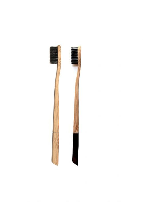 Brosse à dents Charbon/Bambou biodégradable Smiloh Duo