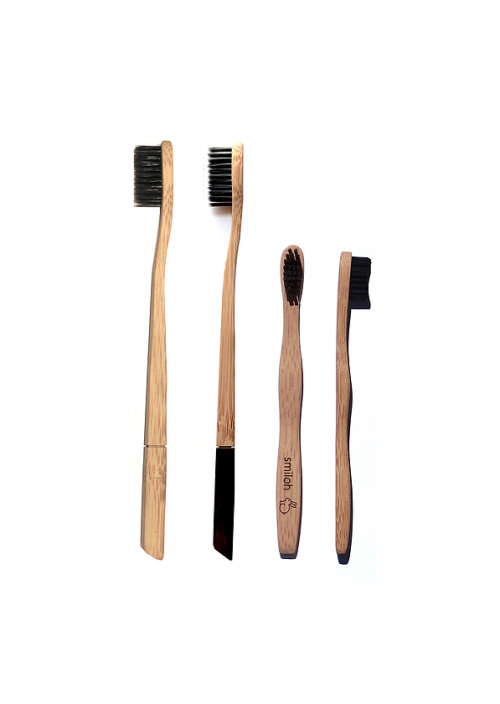 Brosse a dents Charbon/Bambou biodégradable Smiloh81 Family