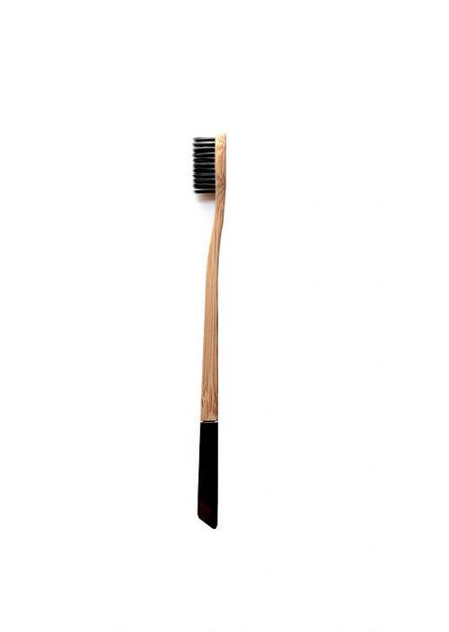 Brosse à dents Charbon/Bambou biodégradable Smiloh81noire