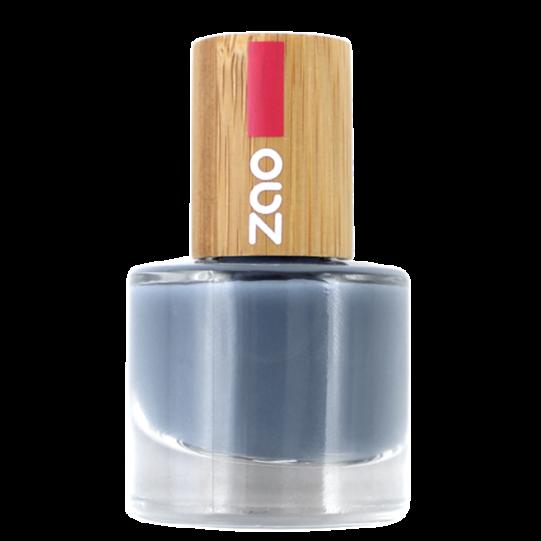 Vernis à ongles bleu gris Réf.670 Zao makeup