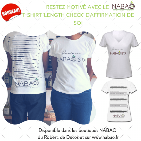 "le NABAO t-shirt ""length check"" en coton"