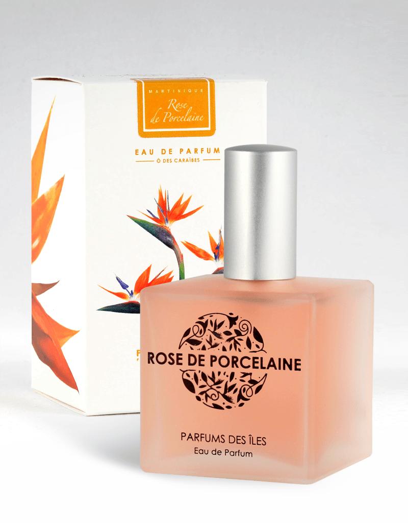 Eau de parfum Rose de porcelaine parfums des iles 100ml