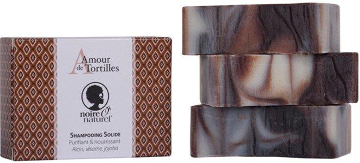 Shampooing solide ou Savon à cheveux Bio - - Un amour de Tortilles Noireônaturel